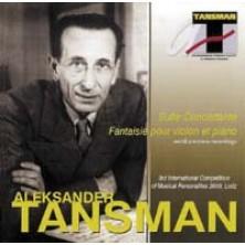 Suite concertante fantaisie pour violin et piano Tansman Aleksander, Witold Rowicki, Orkiestra Symfoniczna Filharmonii Narodowej Aleksander Tansman